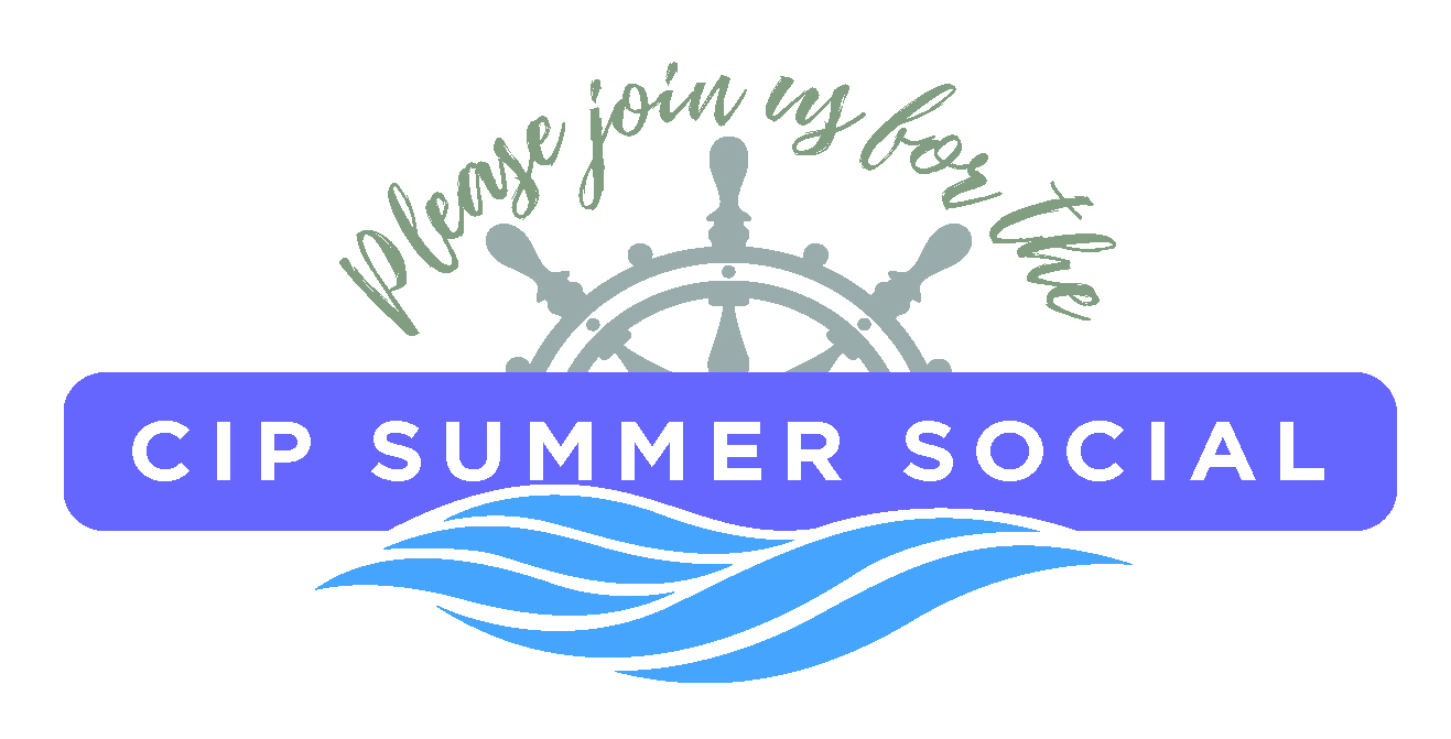 "Logo that says ""Please join us for the CIP Summer Social"""