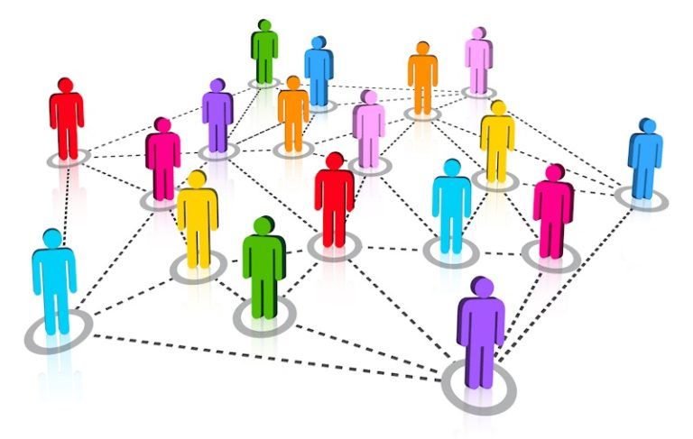 Image of a network of people interconnected